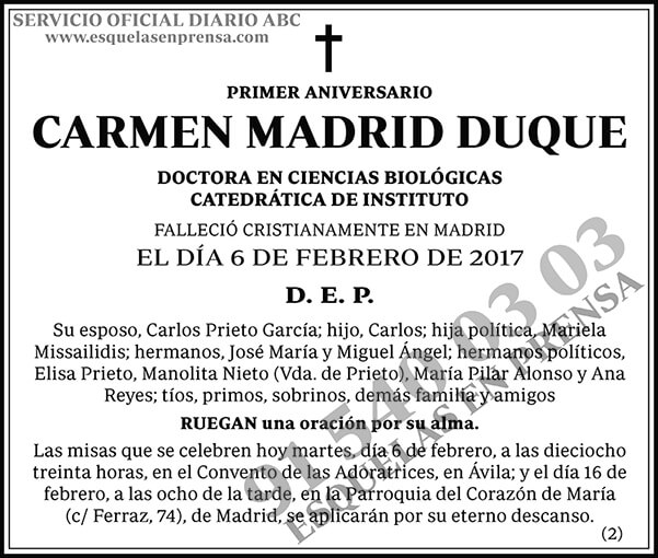 Carmen Madrid Duque